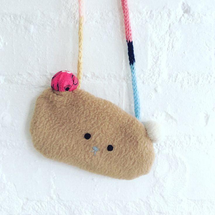 Little teddy hip bag by Poprikot on Etsy