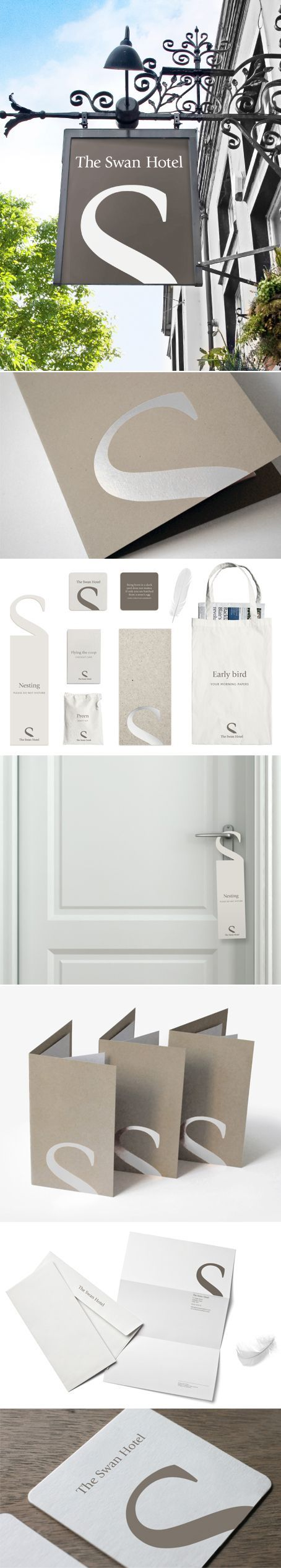 The Swan Hotel branding shows that sometimes simple is best! Elegant, classy and timeless. The colors are well chosen too.