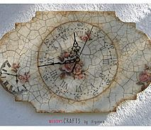 Ξύλινα χειροποίητα διακοσμητικά ρολόγια τοίχου | Ιδέες για χειροποίητα δώρα