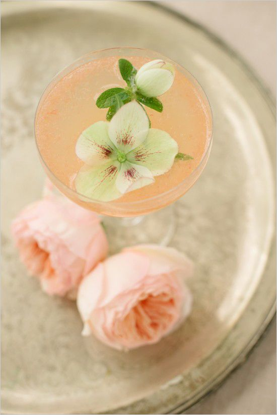 The Lillet Rose Cocktail Recipe. Captured By: Caroline Talbot Photography ---> http://www.weddingchicks.com/2014/05/19/spring-bridal-shower-and-cocktails/