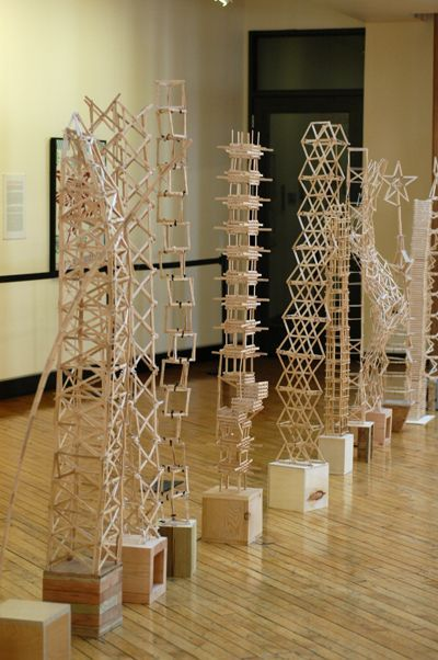 Student Popsicle stick Architecture - Museum challenge - by Plains Art Museum, via Flickr