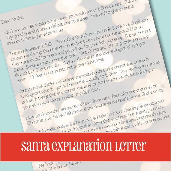 25 Best Ideas About Letter Explaining Santa On Pinterest