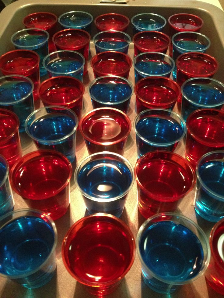 Australia Day Jelly Shots