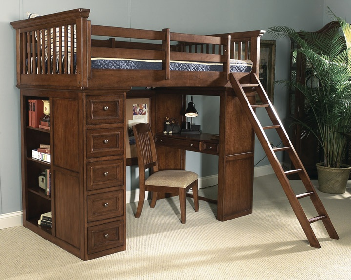 27 Best Full Size Loft Bed With Desk Images On Pinterest 3 4 Beds Lofted Beds And