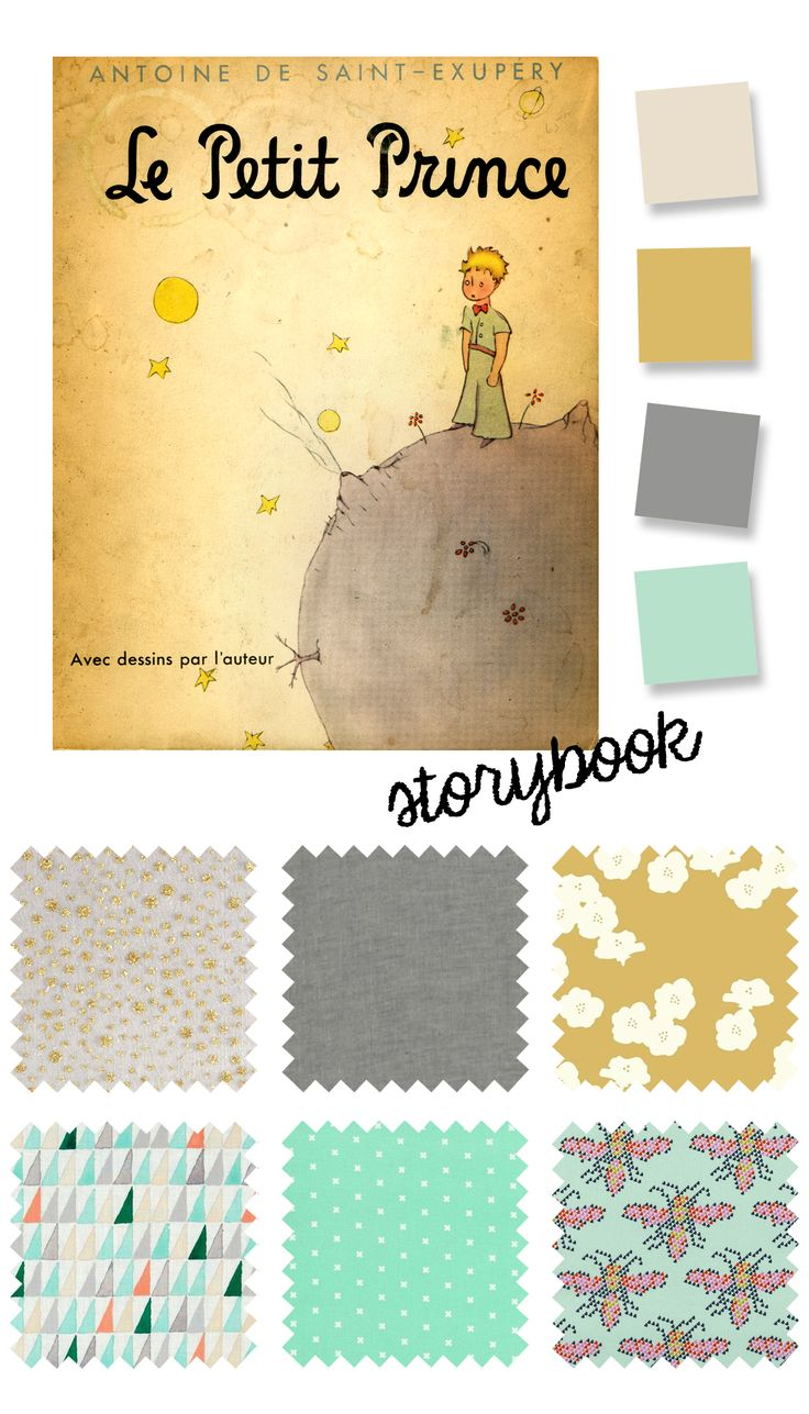 """A color palette inspired by """"The Little Prince"""" book cover for the optional storybook theme for Kids Clothes Week."""