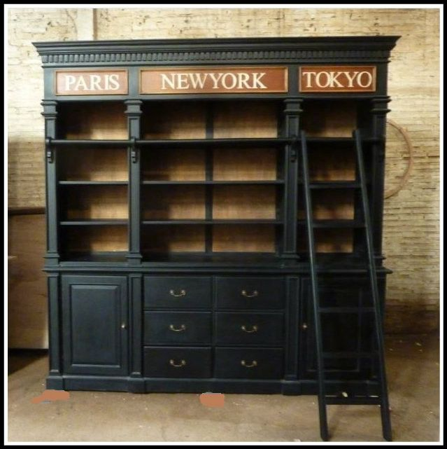 Jetsetter bookcase. A large solid bookcase with ladder. Can be made to measure and in several colours. $4,400.