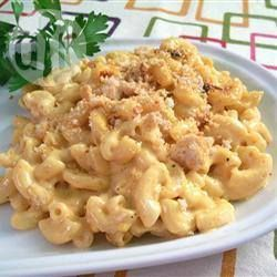 Фото рецепта: Запеченные макароны с сыром