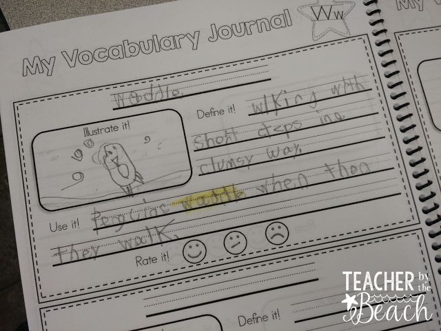 vocabulary journals - keeping vocabulary words through the year
