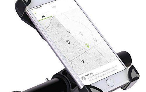 GHB Support Télephone Vélo Support Smartphone Vélo Support Smartphone VTT Rotatif à 360 Universelet Réglable pour Téléphone Portable de…