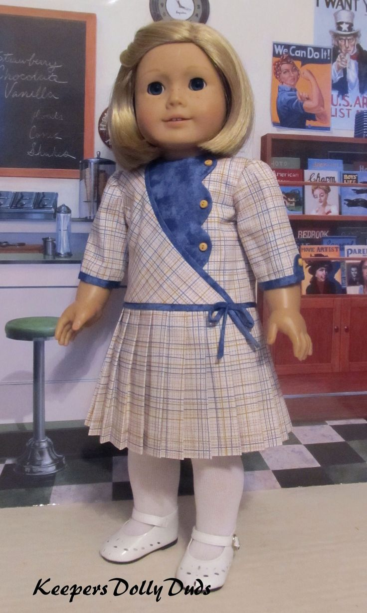 https://flic.kr/p/TR61i9 | 1930s Pleated Frock made to fit American Girl Doll Kit