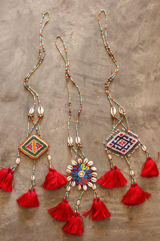 Kuchi Seashell Tassels Necklace/ Ethnic / Hippie by CHEZMOIMYHOME, $35.00