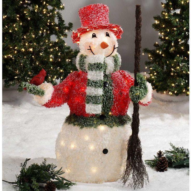 outdoor lighted christmas decoration ideas decoration doll with - Lighted Christmas Decorations