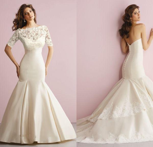 2016 превосходит без бретелек русалка корсет свадебное платье с кружевной пиджак аппликации свадебное платье Vestido де Noiva Sereia
