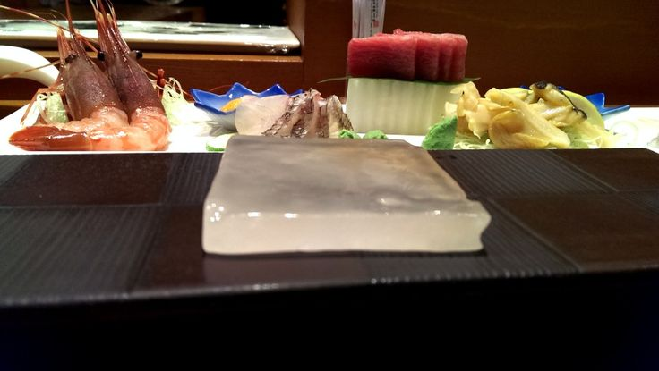 sashimi with tibetan mountain salt