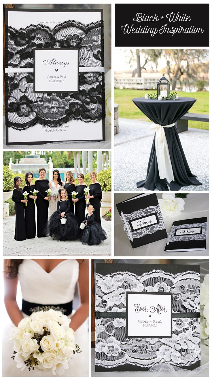 Classic black and white wedding wedding invitations by always, by amber…