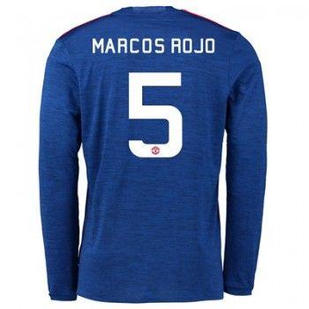 Manchester United 16-17 Marcos Rojo 5 Bortatröja Långärmad   #Billiga  #fotbollströjor