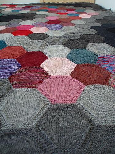 """Something like this afghan (called """"sixes"""") is the only hope I have of ever using up all my sock yarn scraps."""