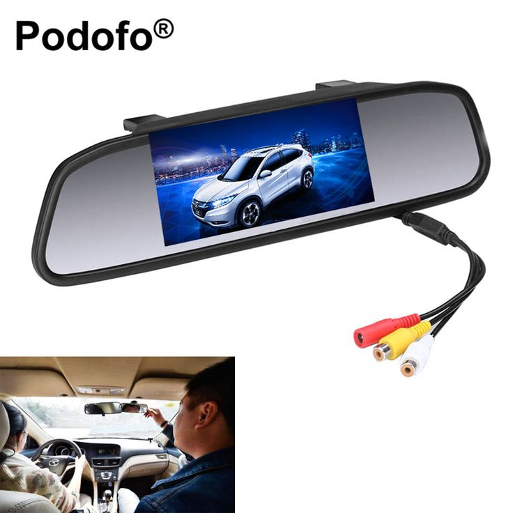 "4.3"" Digital TFT LCD Car Rear View Mirror Monitor for Backup Camera CCD Video Auto Parking Assistance Reversing Car-styling"