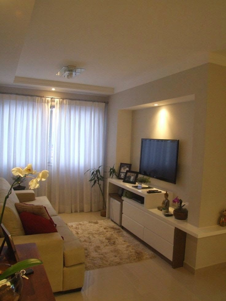Topa decorar decora o constru o e diy sala tv - What size tv to get for living room ...