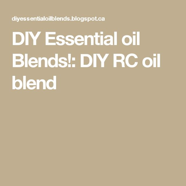 DIY Essential oil Blends!: DIY  RC oil blend cat allergy