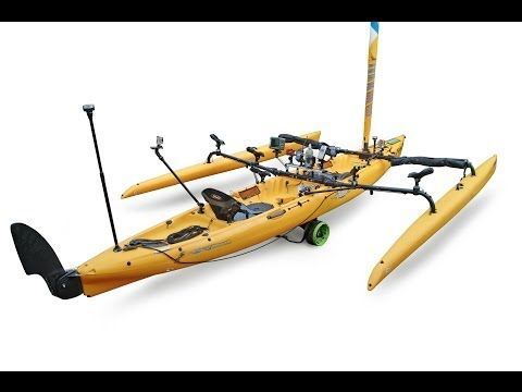 Accessories & mounts for Hobie Tandem Island kayak with RAILBLAZA - YouTube