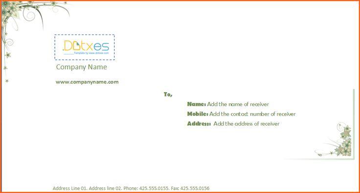 envelope format proper example correct for letter from address