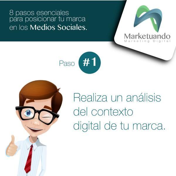 8 pasos esenciales para posicionar tu marca en Medios Sociales. Paso 1: Realiza un análisis de contexto digital de tu marca / #Marketuando #SocialMedia #Marketingdigital