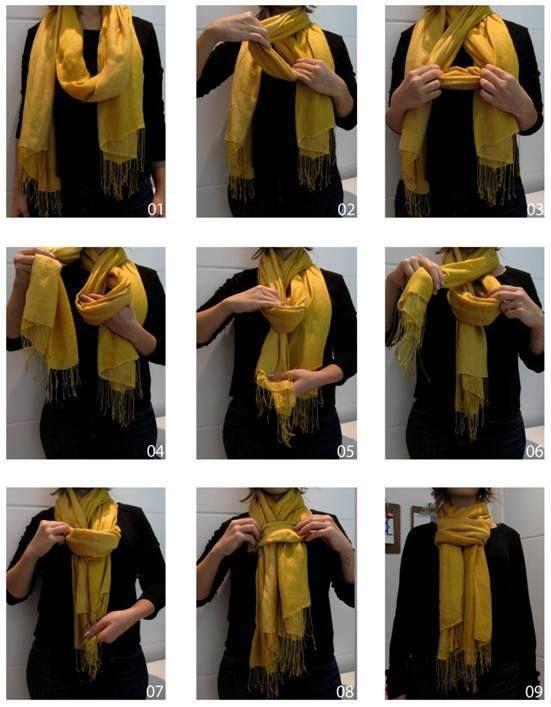 Maneira pratica de arrumar lenço.