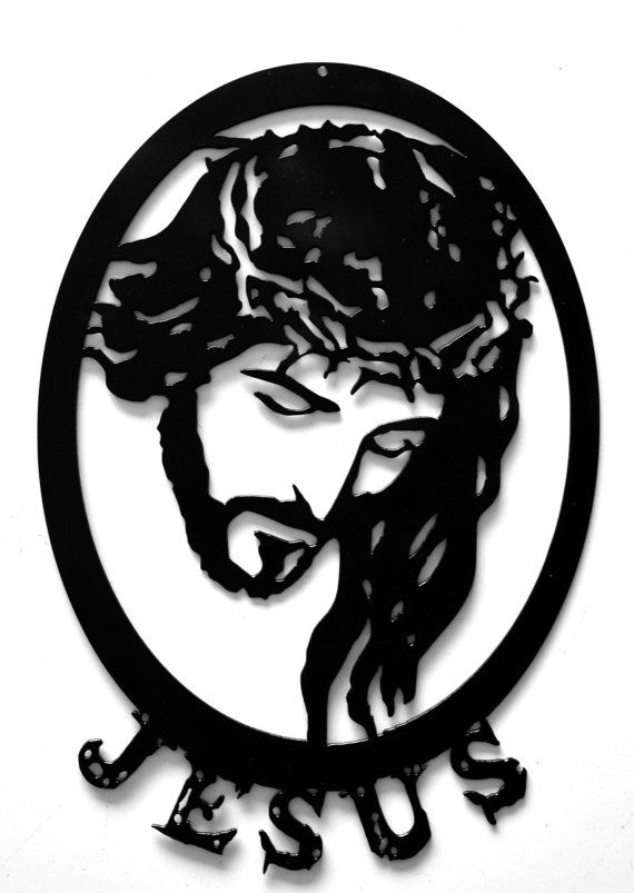 Jesus with Crown of Thorns Metal Cross by rillabee. Explore more products on http://rillabee.etsy.com