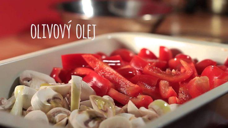 Marinované špagety s pečenou zeleninou