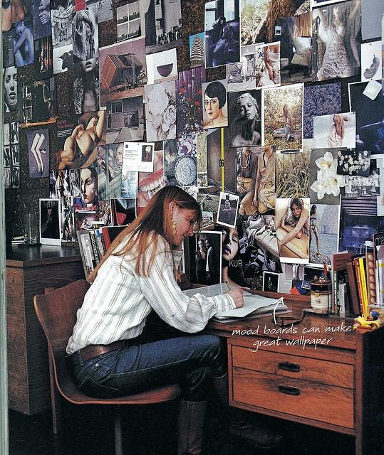 mood wall - Real Living magazine (Aust), via Flickr.