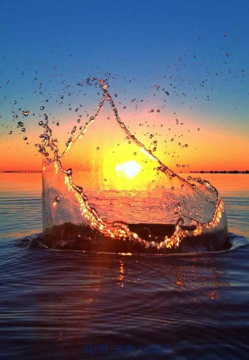 Never saw it coming by Jeremy Willingham. Awesome splash sunset