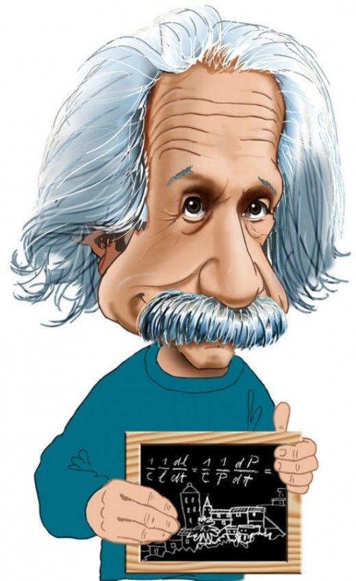Albert Einstein - Celebrity Caricature - http://dunway.com/
