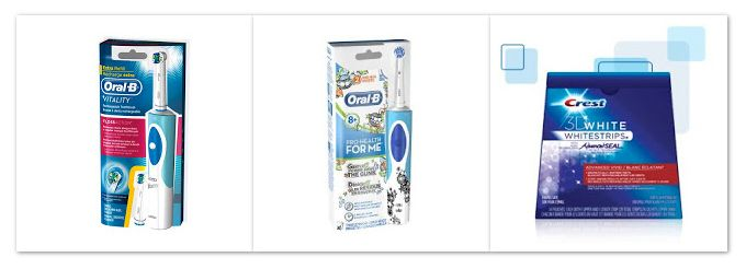FREE ORAL B RECHARGEABLE TOOTHBRUSH OR CREST WHITESTRIPS 3D