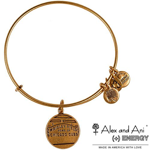 Chicago Cubs Wrigley Field Gold Bracelet by Alex and Ani
