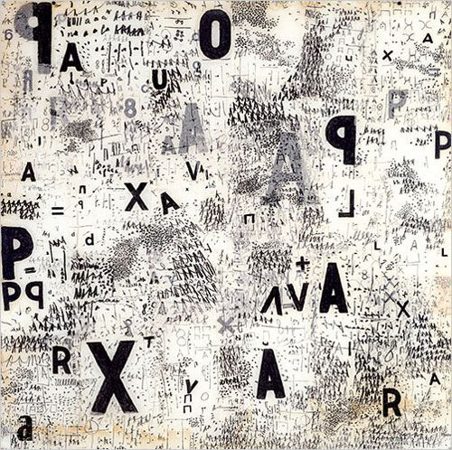 'Tangled alphabets' by León Ferrari and Mira Schendel