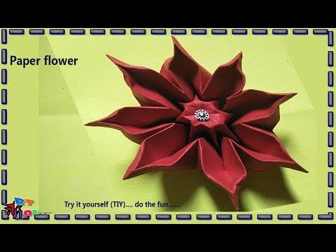 How to make paper flower design by Art house No.7 | Paper flower craft