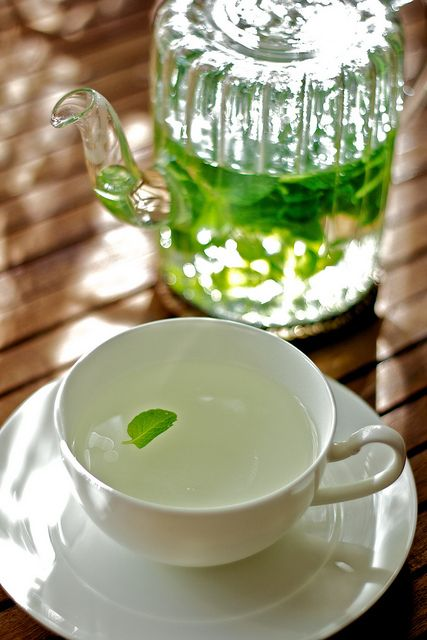 Mint tea, sure to help with nerves, sinuses, physical chill, or a bad day :)