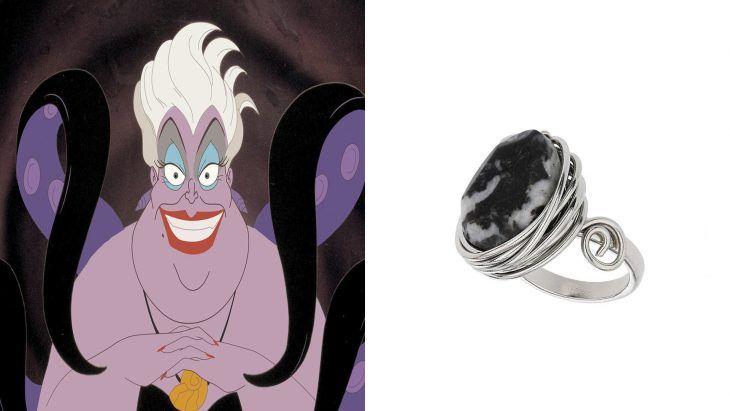 Anillo basado en la villana Ursula de la película la sirenita