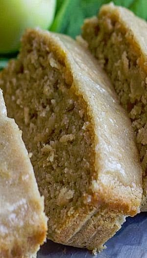 Glazed Apple Cinnamon Oatmeal Bread - This apple bread looks incredible! I'm sure it's extra moist (and healthy!) with the Greek yogurt and applesauce. The idea of using applesauce in the glaze is brilliant! I'm so making this bread very soon! Pinning it now:)