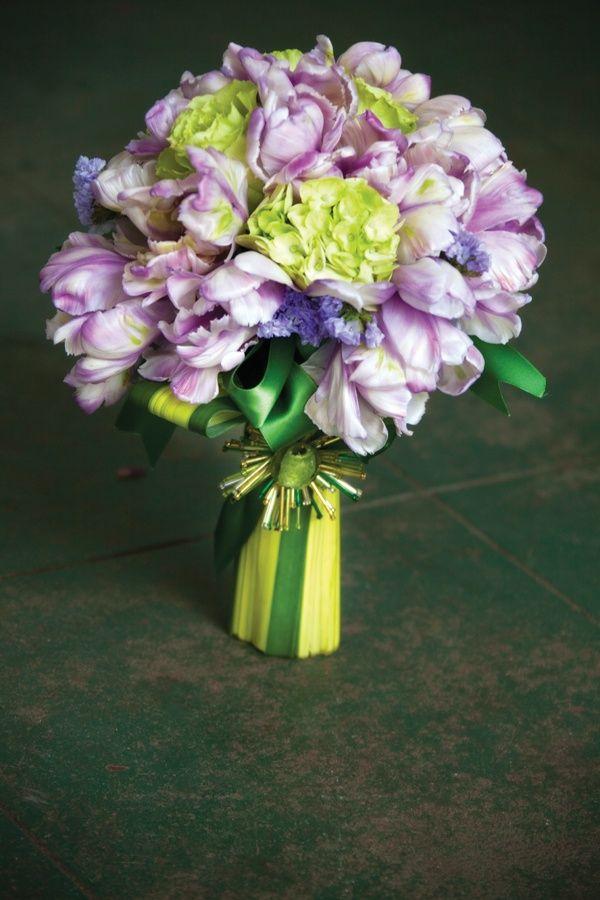 Flower File: Tulip Wedding Bouquets