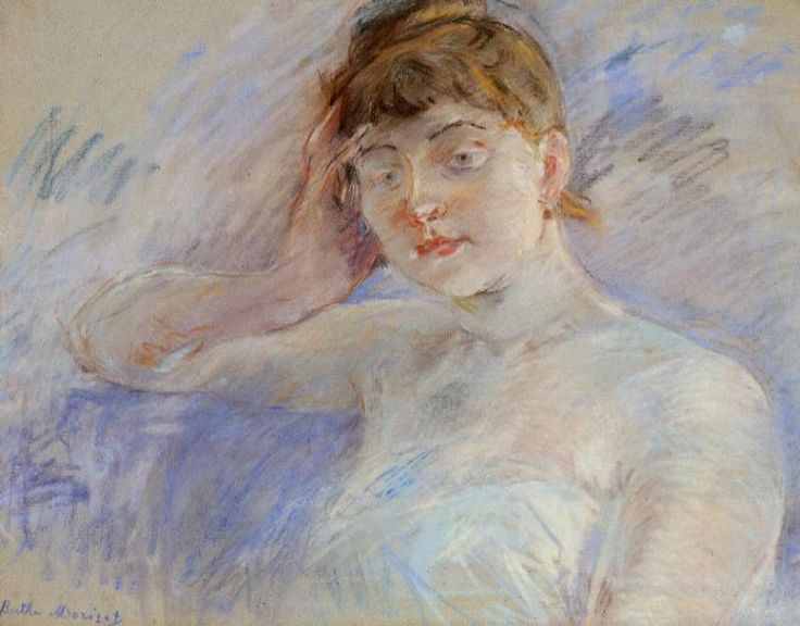 Young Woman in White, Berthe Morisot