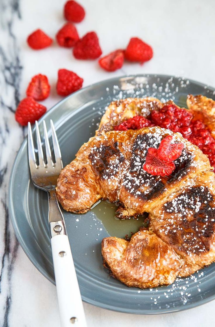 ... french toast croissant french toast breakfast yummies breakfast dishes