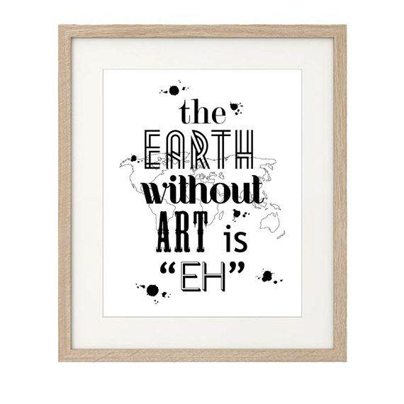 citazione stampabile e personalizzata the earth di luzdesign