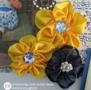 Hawthorne Hills - Scrappy Do blog by Donna: #ClubScrap Artist Team Challenge ribbon flowers