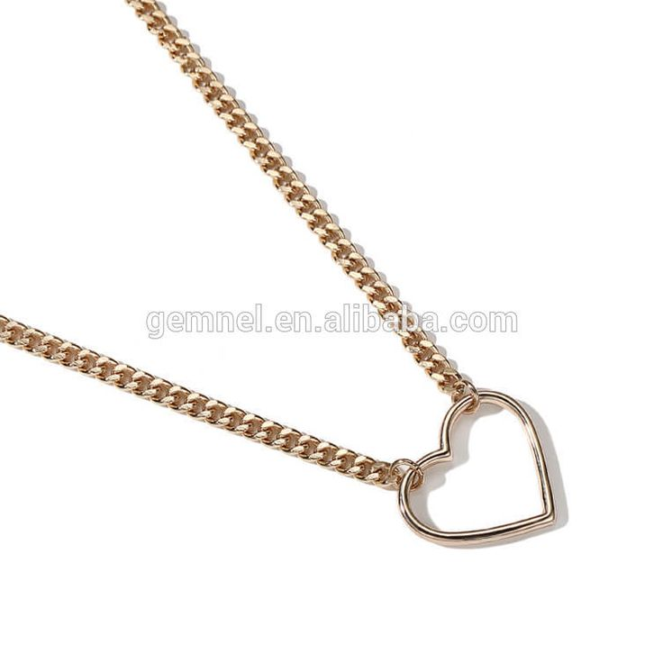 Gemnel nice fashion one piece heart chakra choker necklace for women