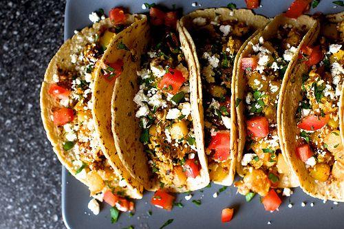 Ei, Kartoffeln und Chorizo Tacos