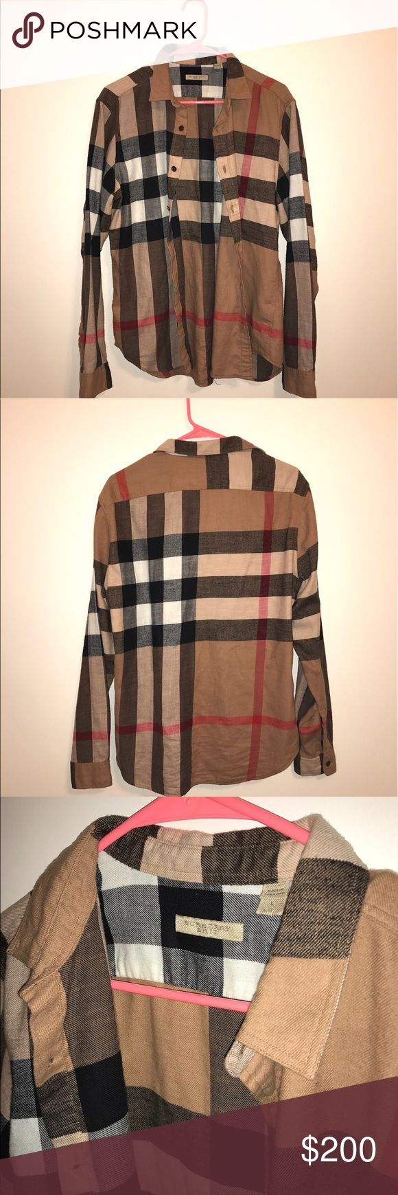 Burberry Brit Men's Cotton Shirt This is a BURBERRY BRIT MENS 100% COTTON SHIRT! It is a large and made in Thailand. It is new without tags. It is Machine Washable. Burberry Shirts Dress Shirts
