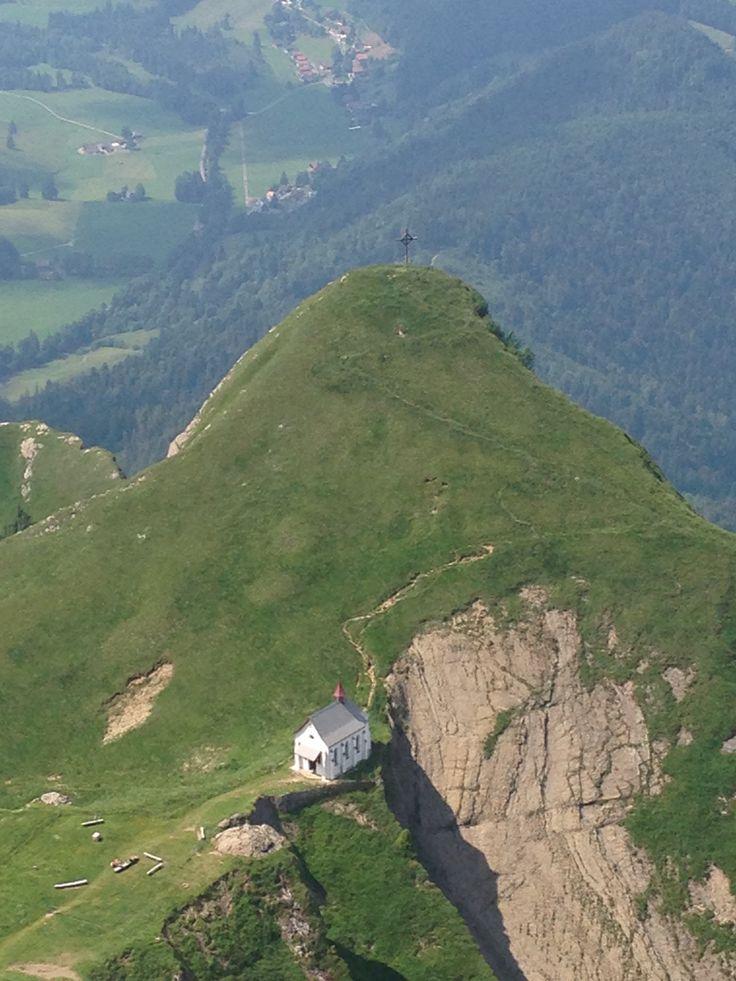View of chapel from Mount Pilatus