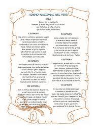 Resultado de imagen para el himno nacional del peru